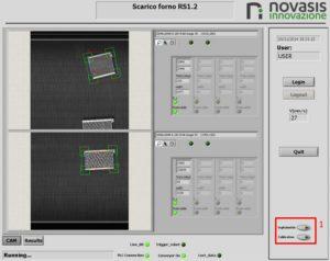 HMI scarico forno conveyor tracking