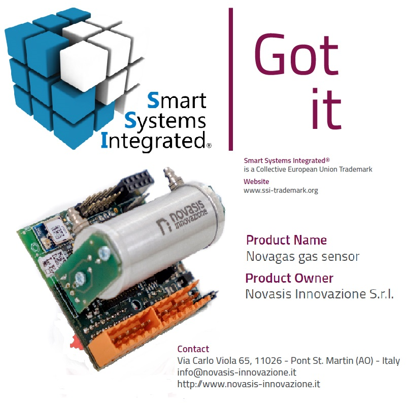 Sensore NOVAGAS di Novasis Innovazione con il logo SSI di EPOSS