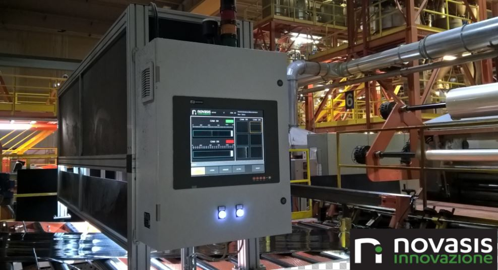 Sistema di visione per ispezione di lastre su linea di produzione Machine vision system for the inspection of composite sheets in production line