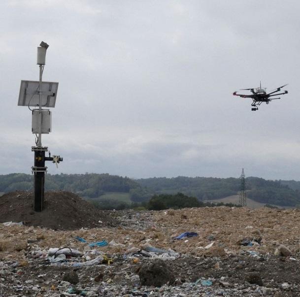 UAV drone gas sensor