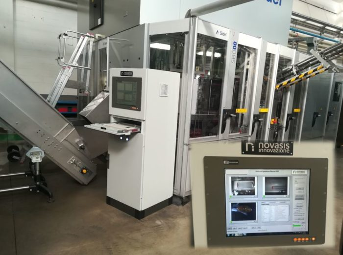 Sistema di riconoscimento automatico multispettrale di difetti in macchina di soffiaggio bottiglie PET